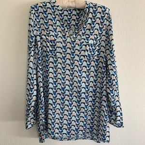 Two by Vince Camuto V-neck Silky Blouse Sz M